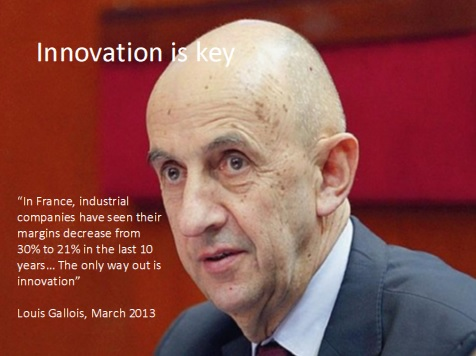 Louis Gallois, The Innovation Commissioner to the French Prime Minister, Jean-Marc Ayrault