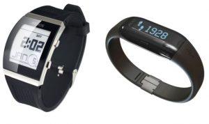 Exemple de smartwatch avec podomètre