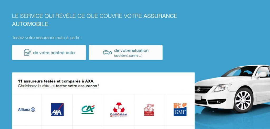 Capture d'écran du site testezvotreassurance.com