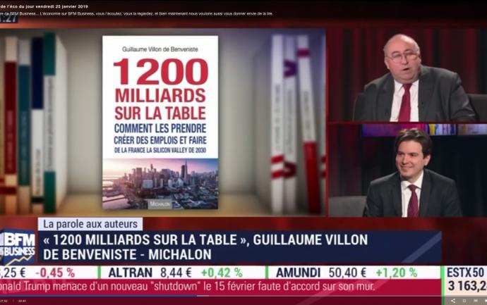 La librairie de l'Eco - BFM Business - 1200 milliards sur la table - Guillaume Villon de Benveniste