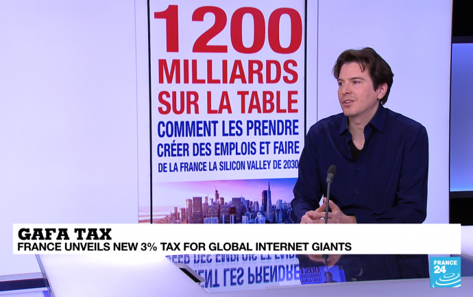 France 24 - Guillaume Villon de Benveniste - GAFA Tax