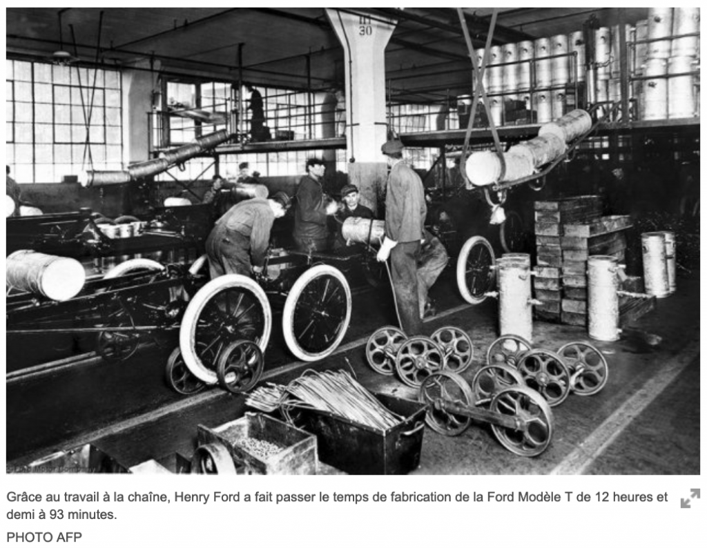 La chaine de montant de Ford