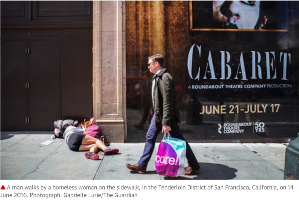 Les Sans-abris à San Francisco - les contrastes sociaux