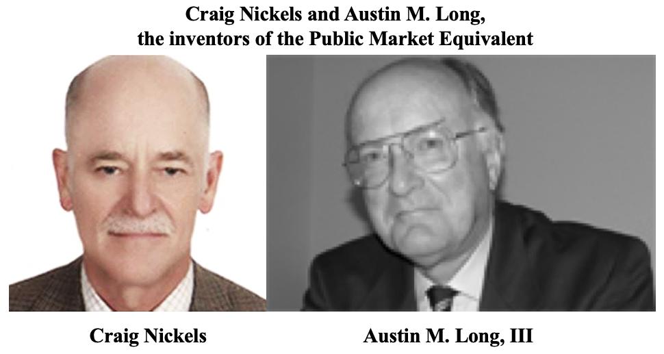 Craig Nickels and Austin M. Long, the inventors of the Public Market Equivalent